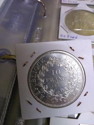 moneda de 10 francos de plata