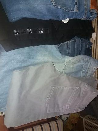 Pantalones niño vaqueros 11-12.Todos por 19€