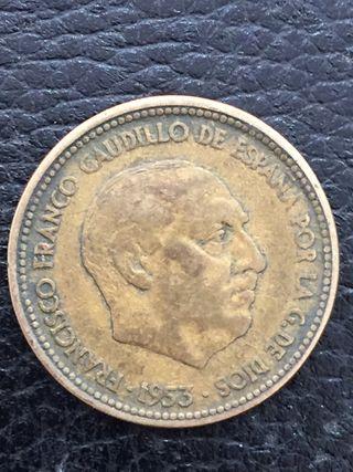 2,5 pesetas de franco 1953