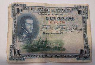 100 pesetas del 1925
