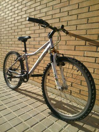Bici con suspensión