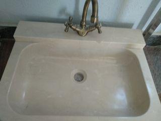 lavabo en crema marfil pulido brillo