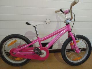 Bicicleta Specialized hotrock 16 rosa