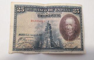 25 pesetas del 1928