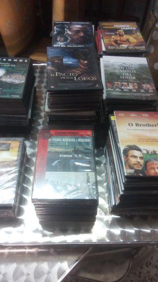 LOTE 140 PELICULAS DVD Y 30 DVDS DOCUMENTALES