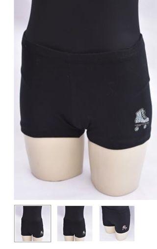 Shorts con patin brillante