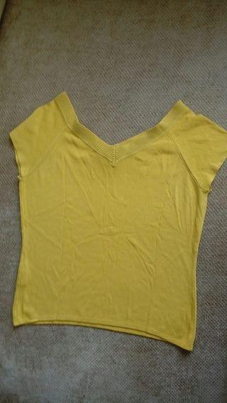 camiseta manga corta amarilla
