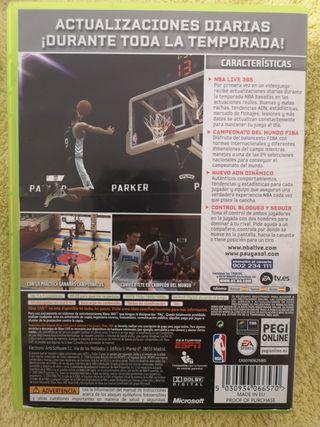 juego Xbox360 NBA live 09