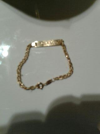 4b7a3202f695 Pulsera de oro macizo de segunda mano en WALLAPOP