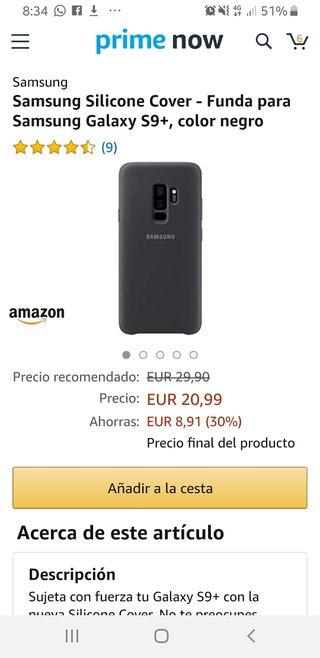 funda silicona Samsung s9+
