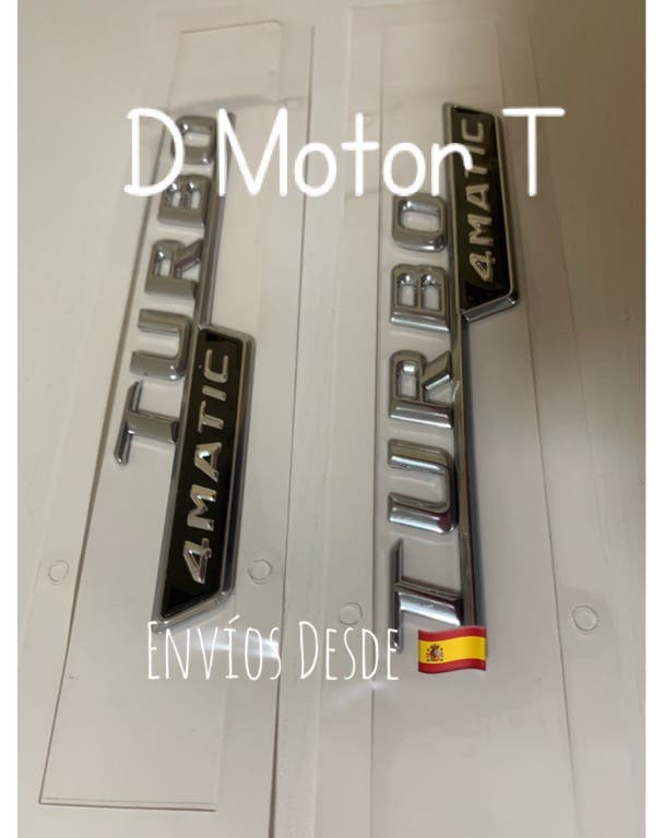 Set 2 emblemas Turbo 4Matic Mercedes Benz