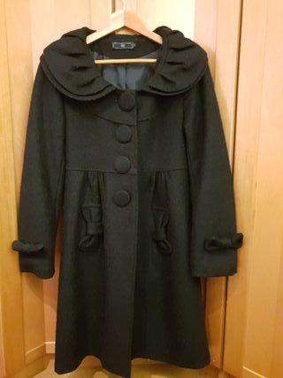 Abrigo paño fino negro