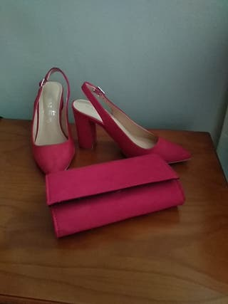 Zapato rojo MARYPAZ más bolso