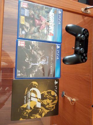 mando PS4 y juegos