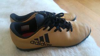 zapatillas botas fútbol Adidas 38
