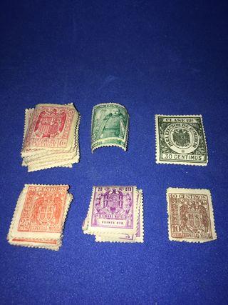 Lote sellos antiguos España. Sin usar