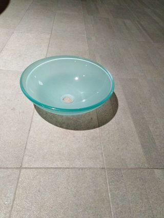 lavabo cristal satinado