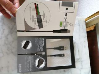 Cable USB a Lightning MFI de Nylon negro