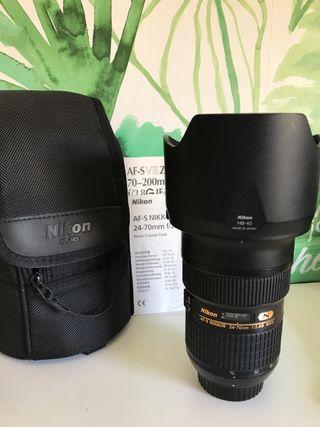 Objetivo Nikon 24-70mm f/2.8G ED