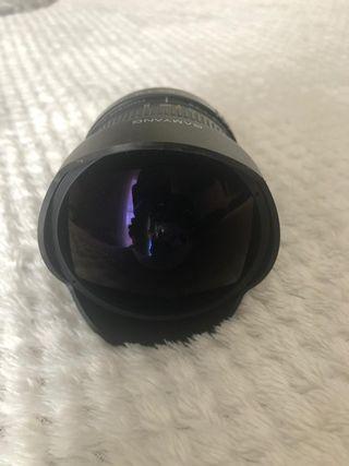 Objetivo para Canon ojo de pez