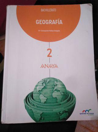 libro geográfia 2 bachillerato anaya