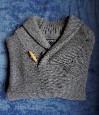 Jersey gris punto cuello alto Springfield (M)