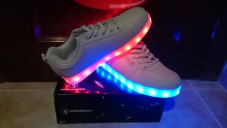 Zapatillas Luces LED Multicolor Casual