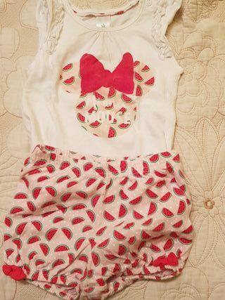 Camiseta y pantalon Disney bebé talla 74 cm