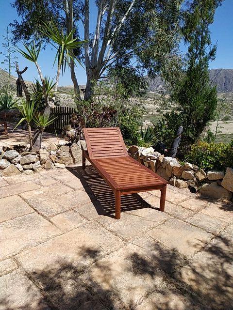 silla tumbona de madera de teca importada