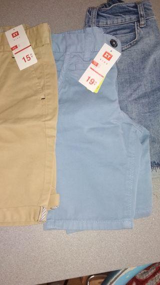 3 pantalones cortos niño talla 5- 6