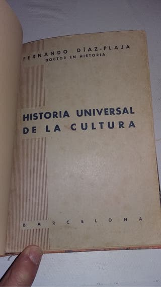 "Libro ""Historia Universal de la Cultura"""