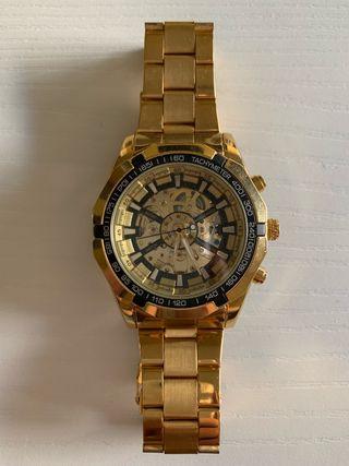 Reloj Dorado maquinaria vista