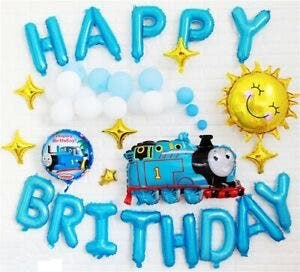 Thomas and Friends Happy Birthday Balloons Set