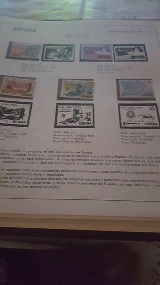 colección de sellos de España años 80 y 81