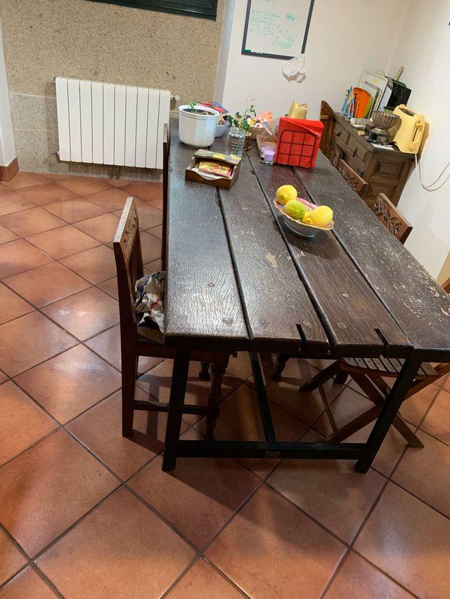 Mesa de jardín o cocina rústica de segunda mano por 550 € en ...