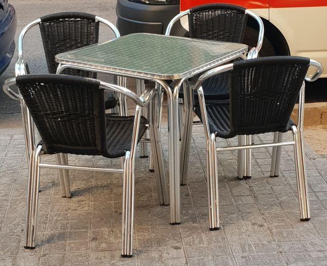 Mesa Aluminio Terraza Bar De Segunda Mano Por 30 En