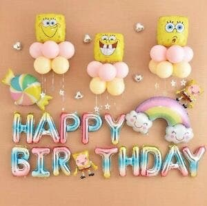 SpongeBob SquarePants Happy Birthday Balloons Set