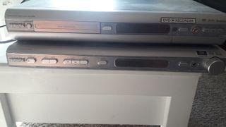 Amplificador y DVD grabador