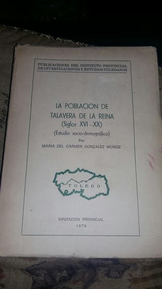 libro pobl de talavera de la reina siglo XVI .XX