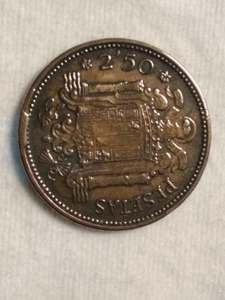 moneda 2'50 pesetas