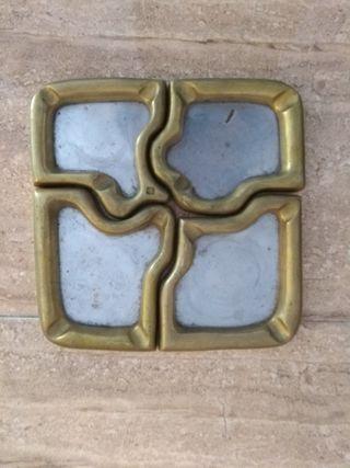 Cenicero puzzle David Marshall latón y aluminio