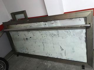 Puerta entrada aluminio con marco