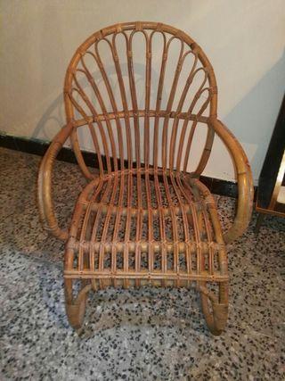 sillones de mimbre bambú