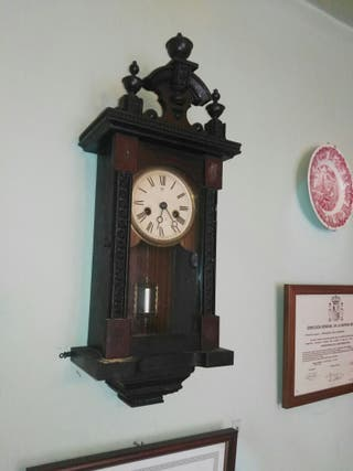 antiguo reloj de pared alfonsino regulador aleman