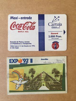 Entradas Expo 92 y cartuja 93
