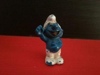 figura de goma pvc pitufo riendo