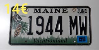 Maine, Matriculas Americanas