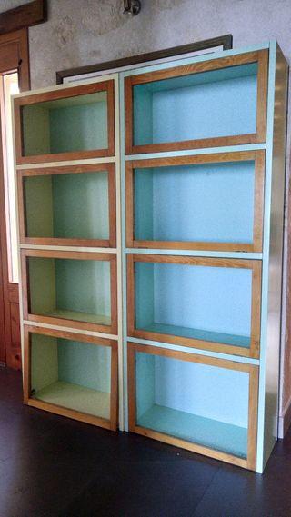 libreros de madera maciza de pino valsaín.