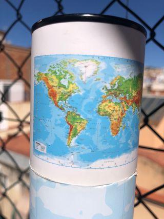 Mapa mundi chinchetas viajar