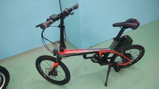 bicicleta carbono plegable eléctrica